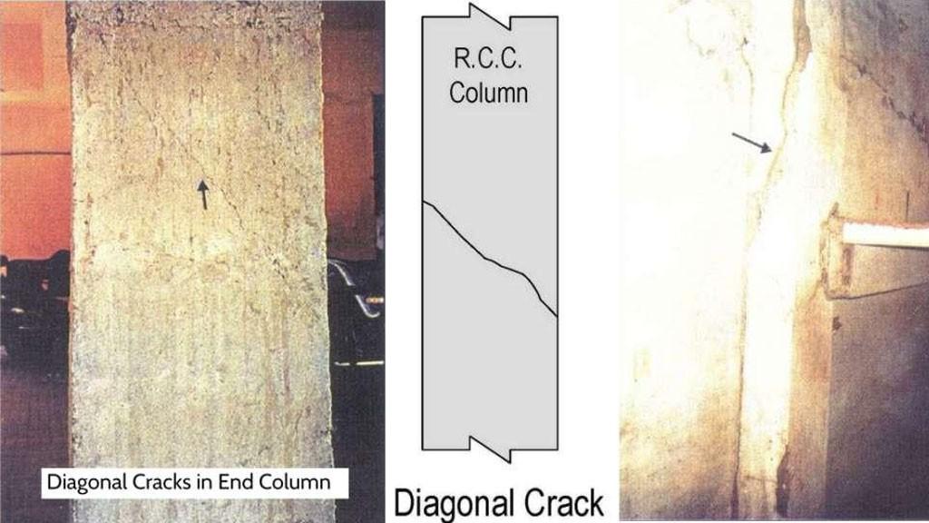 Hình dáng và nguyên nhân các loại vết nứt cột bê tông cốt thép