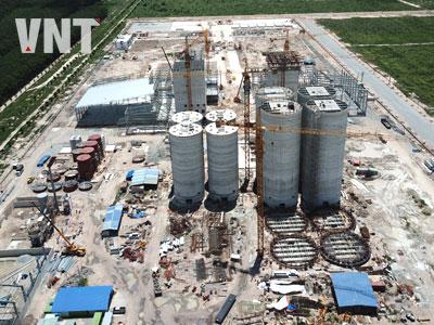 Toàn cảnh công trường xây dựng Nhà máy thức ăn chăn nuôi CPV Bình Phước - Tháng 5/2019